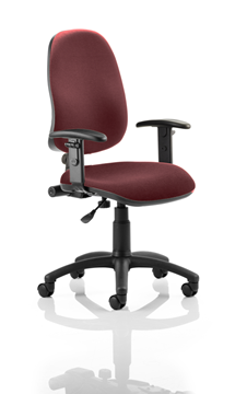 Picture of Office Chair Company Eclipse I Lever Task Operator Chair Bespoke With Height Adjustable Arms In Chilli