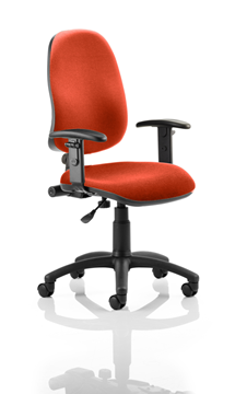 Picture of Office Chair Company Eclipse I Lever Task Operator Chair Bespoke With Height Adjustable Arms In Pimento