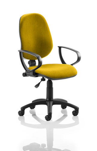 Picture of Office Chair Company Eclipse I Lever Task Operator Chair Bespoke With Loop Arms In Sunset