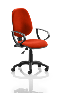 Picture of Office Chair Company Eclipse I Lever Task Operator Chair Bespoke With Loop Arms In Pimento