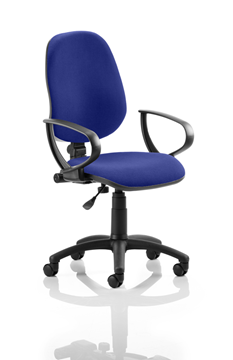 Picture of Office Chair Company Eclipse I Lever Task Operator Chair Bespoke With Loop Arms In Serene