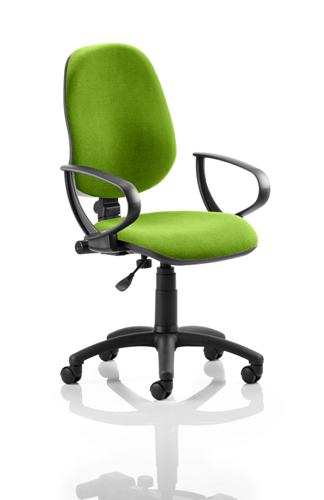 Picture of Office Chair Company Eclipse I Lever Task Operator Chair Bespoke With Loop Arms In Swizzle
