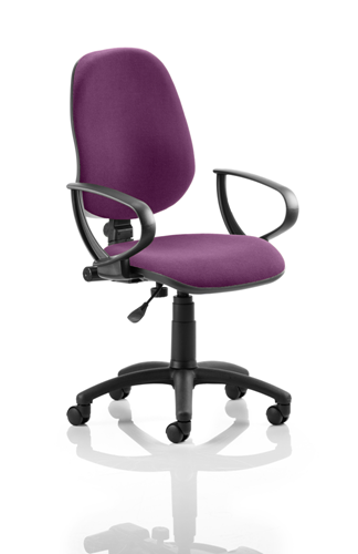 Picture of Office Chair Company Eclipse I Lever Task Operator Chair Bespoke With Loop Arms In Purple