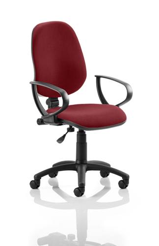 Picture of Office Chair Company Eclipse I Lever Task Operator Chair Bespoke With Loop Arms In Chilli