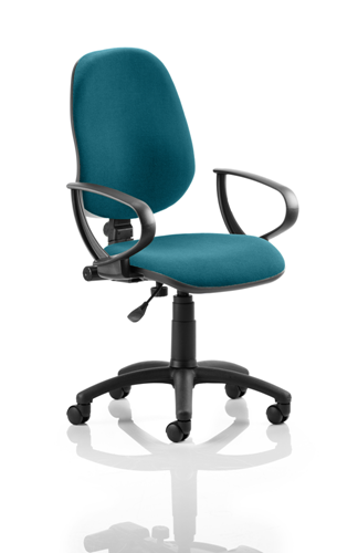 Picture of Office Chair Company Eclipse I Lever Task Operator Chair Bespoke With Loop Arms In Kingfisher