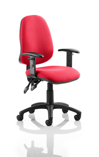 Picture of Office Chair Company Eclipse II Lever Task Operator Chair Bespoke With Height Adjustable Arms In Cherry