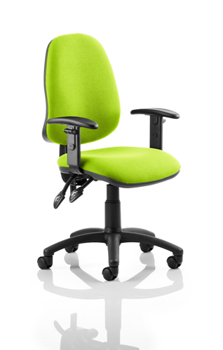 Picture of Office Chair Company Eclipse II Lever Task Operator Chair Bespoke With Height Adjustable Arms In Swizzle