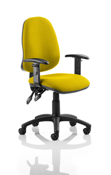 Picture of Office Chair Company Eclipse II Lever Task Operator Chair Bespoke With Height Adjustable Arms In Sunset