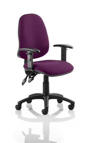 Picture of Office Chair Company Eclipse II Lever Task Operator Chair Bespoke With Height Adjustable Arms In Purple