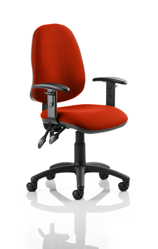 Picture of Office Chair Company Eclipse II Lever Task Operator Chair Bespoke With Height Adjustable Arms In Pimento