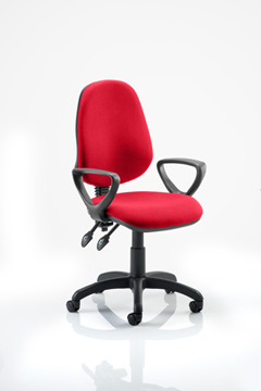 Picture of Office Chair Company Eclipse II Lever Task Operator Chair Bespoke  With Loop Arms In Cherry