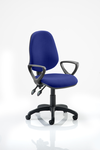 Picture of Office Chair Company Eclipse II Lever Task Operator Chair Bespoke  With Loop Arms In Serene