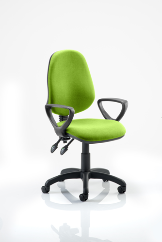 Picture of Office Chair Company Eclipse II Lever Task Operator Chair Bespoke  With Loop Arms In Swizzle