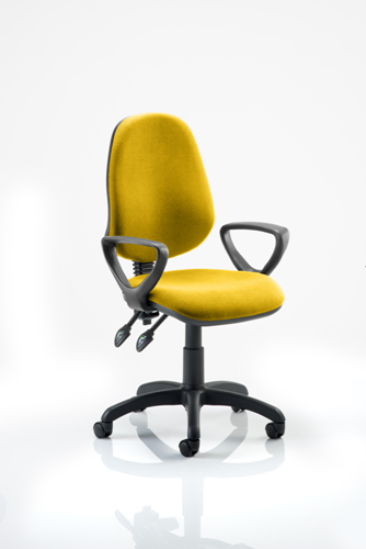Picture of Office Chair Company Eclipse II Lever Task Operator Chair Bespoke  With Loop Arms In Sunset