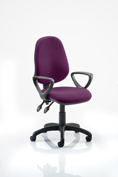 Picture of Office Chair Company Eclipse II Lever Task Operator Chair Bespoke  With Loop Arms In Purple