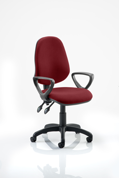 Picture of Office Chair Company Eclipse II Lever Task Operator Chair Bespoke  With Loop Arms In Chilli