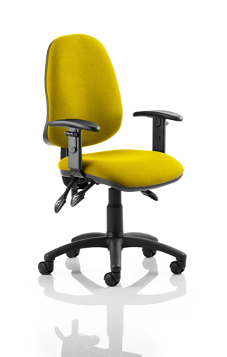 Picture of Office Chair Company Eclipse III  Lever Task Operator Chair Bespoke With Height Adjustable Arms In Sunset