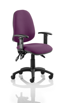 Picture of Office Chair Company Eclipse III  Lever Task Operator Chair Bespoke With Height Adjustable Arms In Purple