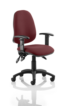 Picture of Office Chair Company Eclipse III  Lever Task Operator Chair Bespoke With Height Adjustable Arms In Chilli