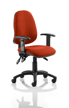 Picture of Office Chair Company Eclipse III  Lever Task Operator Chair Bespoke With Height Adjustable Arms In Pimento