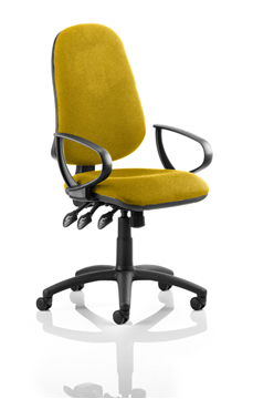 Picture of Office Chair Company Eclipse III  Lever Task Operator Chair Bespoke With Loop Arms In  Sunset