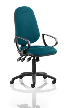 Picture of Office Chair Company Eclipse III  Lever Task Operator Chair Bespoke With Loop Arms In Kingfisher