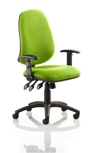 Picture of Office Chair Company Eclipse XL III Lever Task Operator Chair Bespoke With Height Adjustable Arms In Swizzle