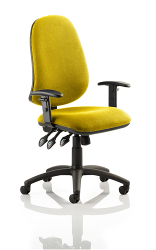 Picture of Office Chair Company Eclipse XL III Lever Task Operator Chair Bespoke With Height Adjustable Arms In Sunset
