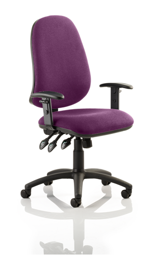Picture of Office Chair Company Eclipse XL III Lever Task Operator Chair Bespoke With Height Adjustable Arms In Purple