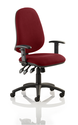 Picture of Office Chair Company Eclipse XL III Lever Task Operator Chair Bespoke With Height Adjustable Arms In Chilli