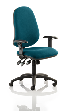 Picture of Office Chair Company Eclipse XL III Lever Task Operator Chair Bespoke With Height Adjustable Arms In Kingfisher