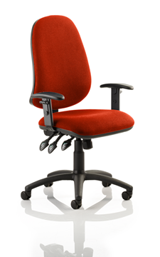 Picture of Office Chair Company Eclipse XL III Lever Task Operator Chair Bespoke With Height Adjustable Arms In Pimento