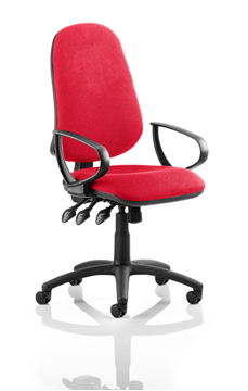 Picture of Office Chair Company Eclipse XL III Lever Task Operator Chair Bespoke With Loop Arms In Cherry
