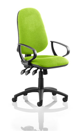 Picture of Office Chair Company Eclipse XL III Lever Task Operator Chair Bespoke With Loop Arms In Swizzle