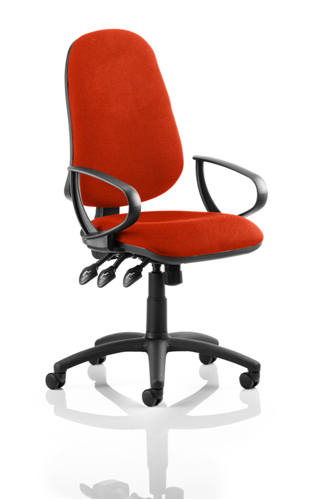 Picture of Office Chair Company Eclipse XL III Lever Task Operator Chair Bespoke With Loop Arms In Pimento