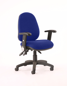 Picture of Office Chair Company Luna II Lever Task Operator Chair Bespoke With Height Adjustable And Folding Arms In Serene