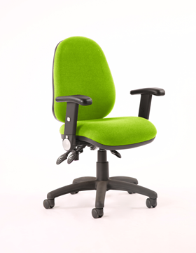 Picture of Office Chair Company Luna II Lever Task Operator Chair Bespoke With Height Adjustable And Folding Arms In Swizzle