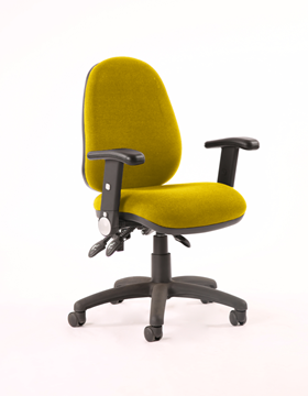 Picture of Office Chair Company Luna II Lever Task Operator Chair Bespoke With Height Adjustable And Folding Arms In Sunset