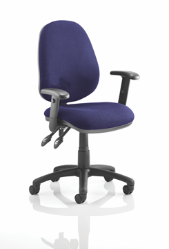 Picture of Office Chair Company Luna II Lever Task Operator Chair Bespoke With Height Adjustable Arms In Serene