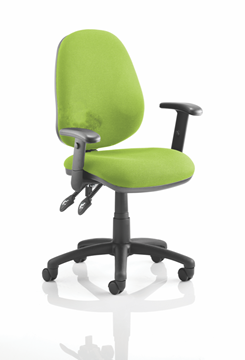 Picture of Office Chair Company Luna II Lever Task Operator Chair Bespoke With Height Adjustable Arms In Swizzle