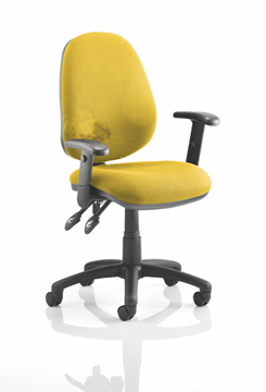 Picture of Office Chair Company Luna II Lever Task Operator Chair Bespoke With Height Adjustable Arms In Sunset