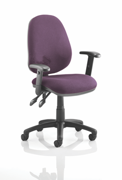 Picture of Office Chair Company Luna II Lever Task Operator Chair Bespoke With Height Adjustable Arms In Purple