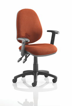 Picture of Office Chair Company Luna II Lever Task Operator Chair Bespoke With Height Adjustable Arms In Pimento