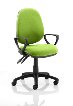 Picture of Office Chair Company Luna II Lever Task Operator Chair Bespoke With Loop Arms In Swizzle