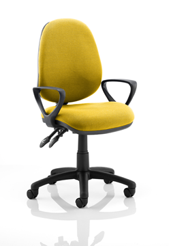 Picture of Office Chair Company Luna II Lever Task Operator Chair Bespoke With Loop Arms In Sunset