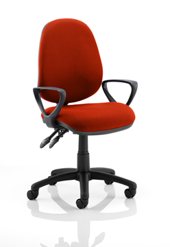 Picture of Office Chair Company Luna II Lever Task Operator Chair Bespoke With Loop Arms In Pimento