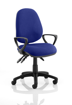 Picture of Office Chair Company Luna III Lever Task Operator Chair Bespoke With Loop Arms In Serene