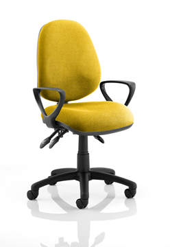 Picture of Office Chair Company Luna III Lever Task Operator Chair Bespoke With Loop Arms In Sunset