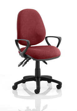 Picture of Office Chair Company Luna III Lever Task Operator Chair Bespoke With Loop Arms In Chilli