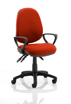Picture of Office Chair Company Luna III Lever Task Operator Chair Bespoke With Loop Arms In Pimento